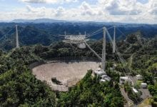 After two cables tore at the Arecibo Radio Telescope site, it has now been decommissioned. Credit: ARECIBO OBSERVATORY/UNIVERSITY OF CENTRAL FLORIDA