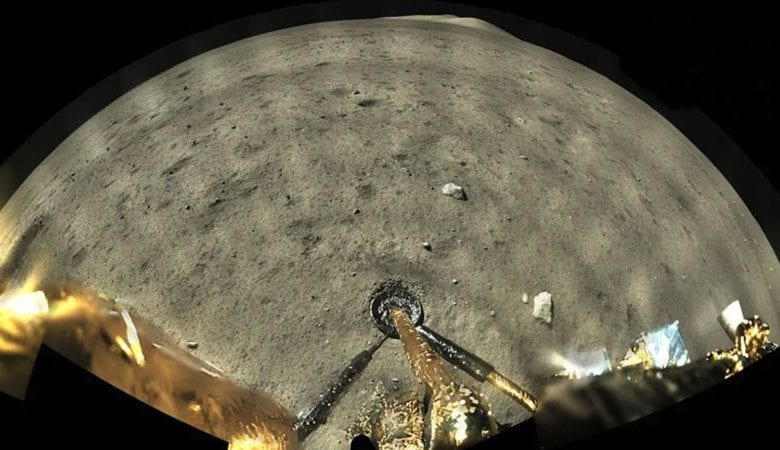 The incredible panoramic image made by Chang'e 5 on the Moon's surface. Credit: CNSA/CLEP