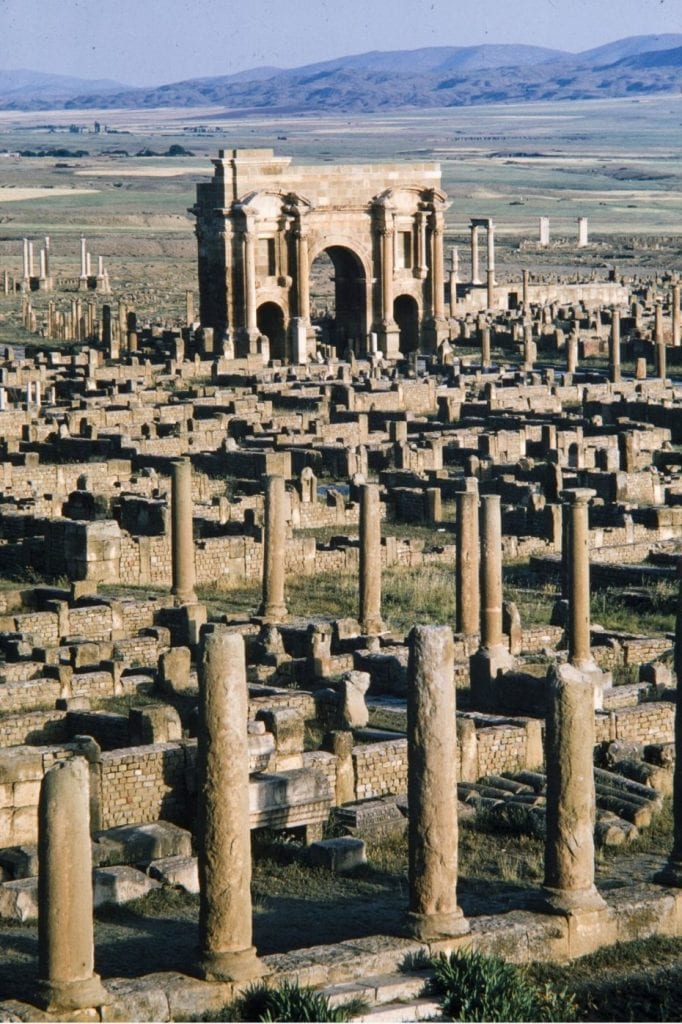 The Roman City of Timgad. Credit: Brian Brake for LIFE magazine, 1965