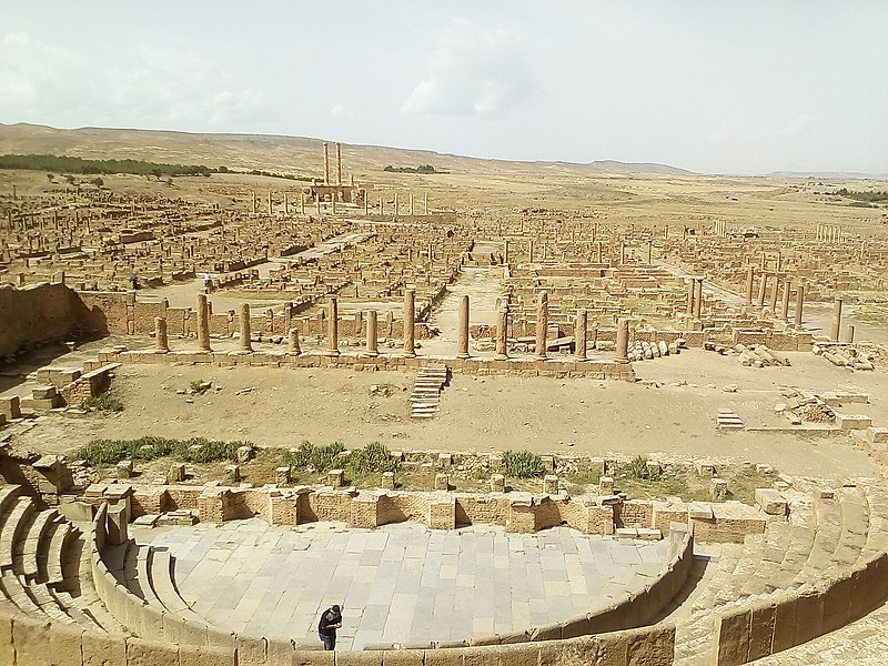 What a surprise it is that people did not care about Timgad for such a long period after it was discovered. Credit: Wikimedia Commons