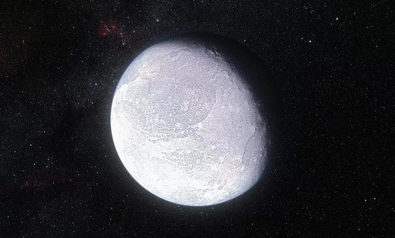 Artist's impression of how the dwarf planet Eris may look like. Credit: ESO/L. Calçada