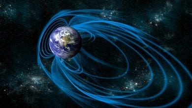 Illustration of Earth's magnetic field which is now in question as the potential cause for water on the Moon. Credit: Shutterstock