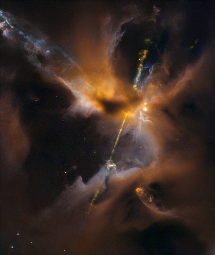 The famous celestial lightsable located at an active region in the Milky Way known as the Orion B molecular cloud complex. Credit: NASA and ESA; Acknowledgment: NASA, ESA, the Hubble Heritage (STScI/AURA)