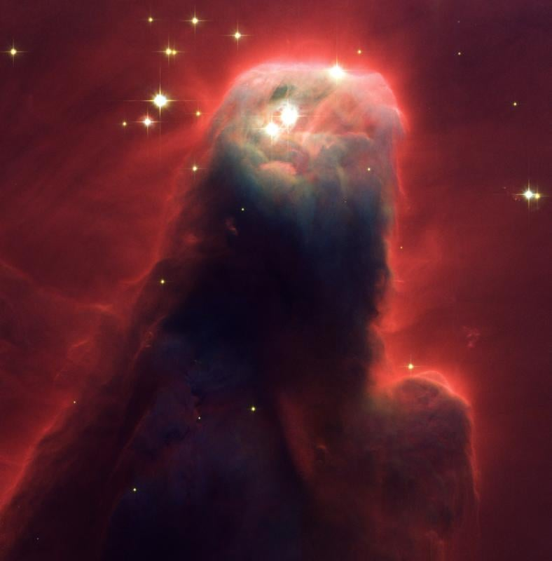 The Star-Forming Pillar of Gas and Dust of the Cone Nebula. Credit: NASA, H. Ford (JHU), G. Illingworth (UCSC/LO)