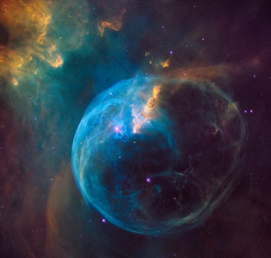 The Bubble Nebula, scientifically known as NGC 7635. Credit: NASA, ESA, and the Hubble Heritage Team (STScI/AURA)