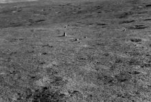 Data from Yutu-2's diary revealed an unusual elongated rock unlike anything seen on the Moon in the past. Credit: CNSA