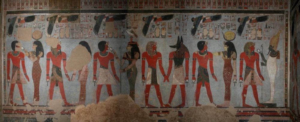 Painted walls inside the Tomb of Amenhotep III. Credit: Pinterest