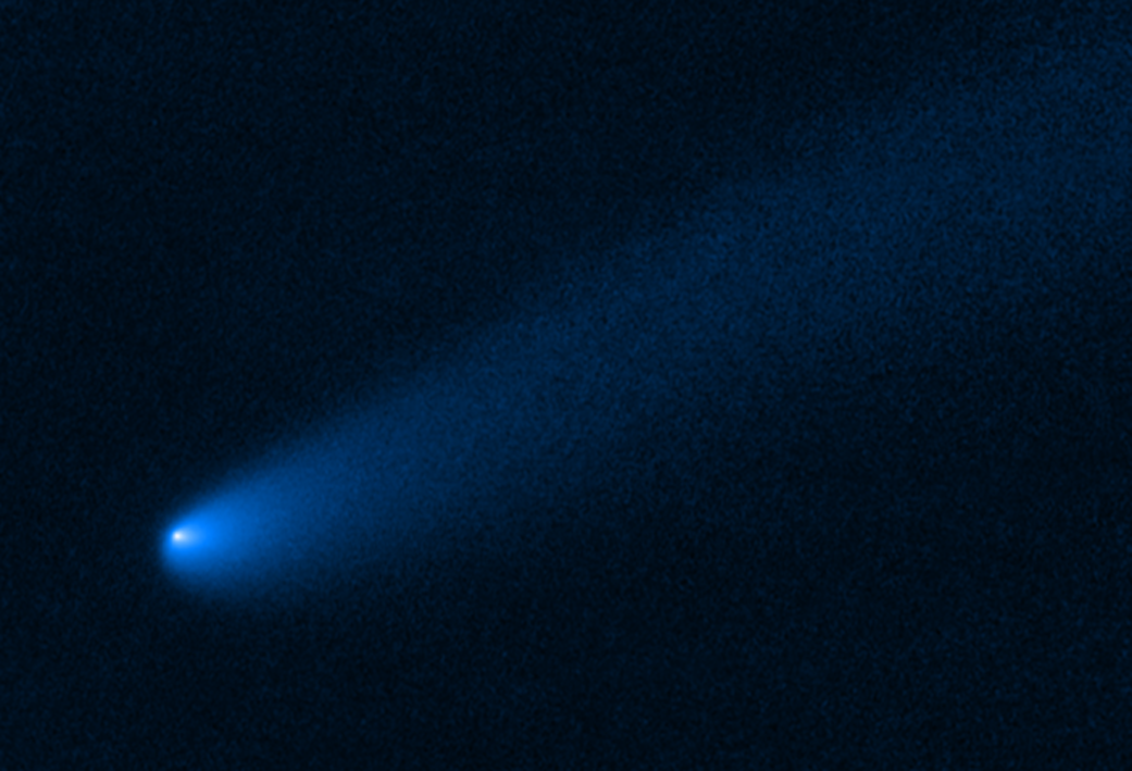 Here is Hubble's image of comet P/2019 LD2 (LD2) which currently resides near Jupiter's Trojan asteroid group. Credit: NASA, ESA, and B. Bolin (Caltech)