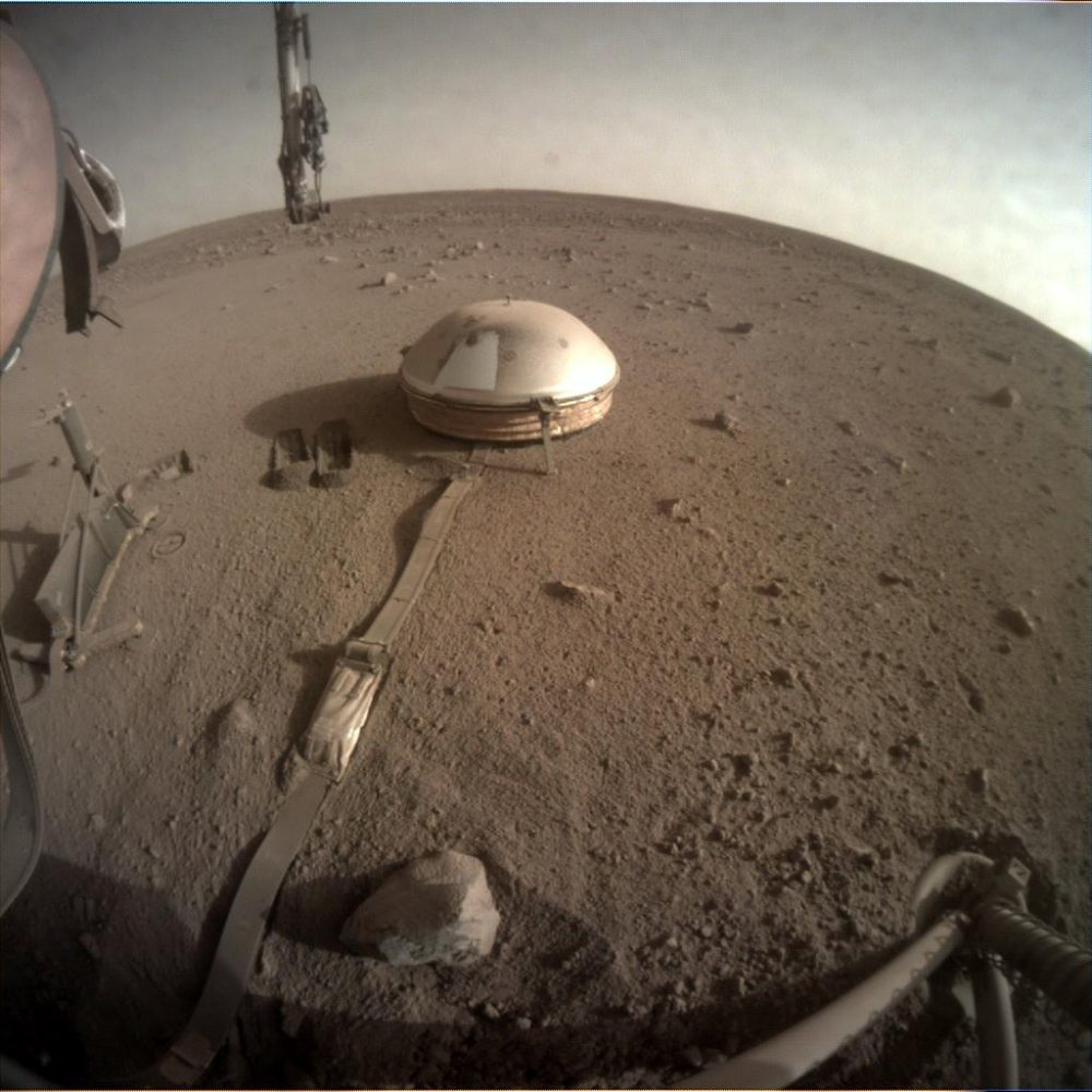 A photo of the surface of Mars taken by InSight on March 17. Photo credit: NASA / JPL-Caltech