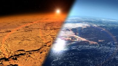 Early Mars was covered in lakes and rivers and had a climat that was able to support life. Credit: NASA's Goddard Space Flight Center