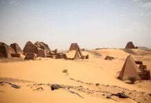 View of the pyramids of Meroe. Credit: Mosa'ab Elshamy / AP
