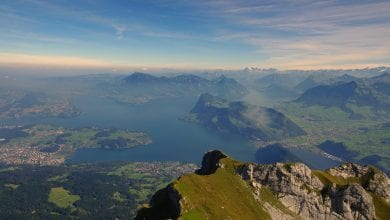 The oldest evidence of human settlement in the Lucerne area was discovered in the shallow waters of Lake Lucerne. Credit: Pixabay / b52_Tresa
