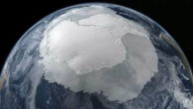 Antarctica as it would appear from space. Image Credit: NASA