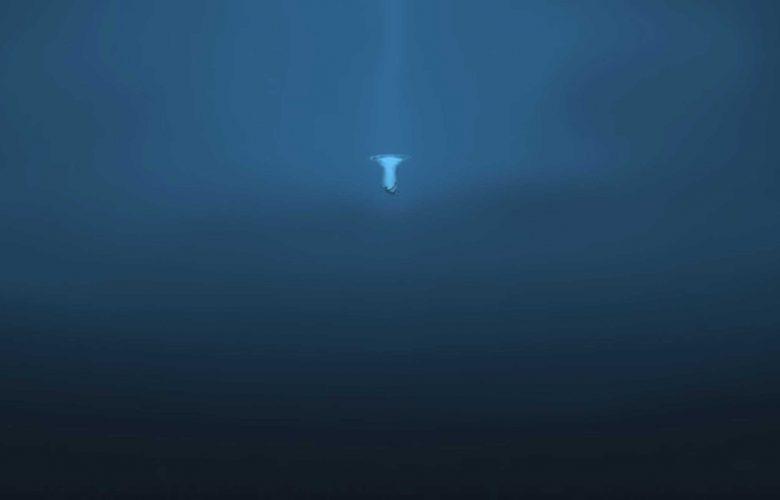 Illustration of the Ocean's depth.