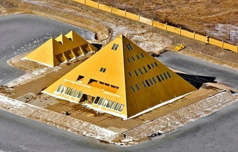 A replica of the Great Pyramid of Giza in the United States