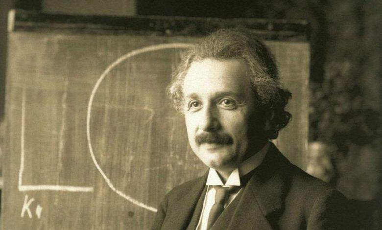 A photograph of Albert Einstein.