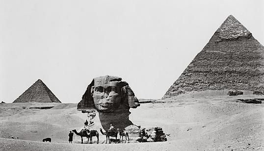 The Sphinx prior to being excavated.