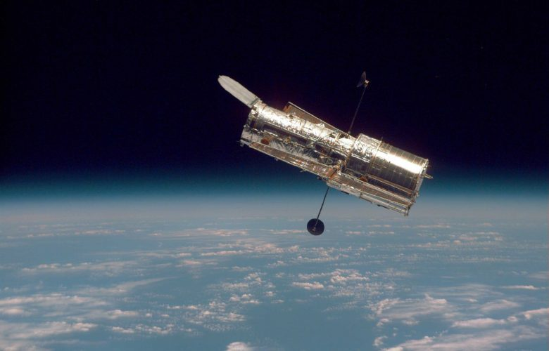 NASA's Hubble Space Telescope, as seen from Space Shuttle Discovery Image: NASA