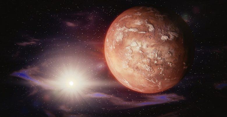 An artists illustration of Mars. Image Credit: Pixabay