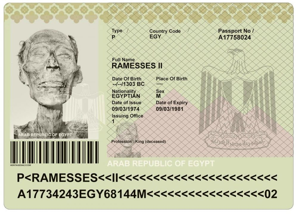 A recreated version of the passport Ramses II was given. Image Credit: David. S. Anderson
