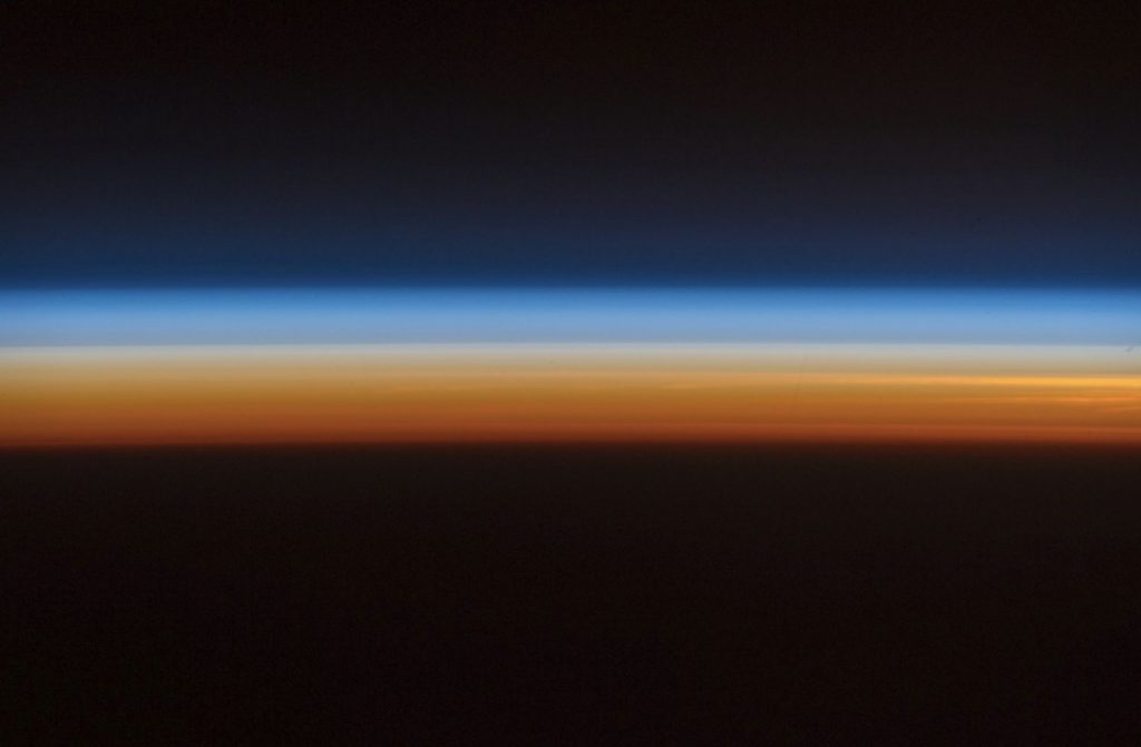 Waiting for sunrise. Location: 220 miles above the Earth, on board the International Space Station. Image Credit: Alexander Gerst.