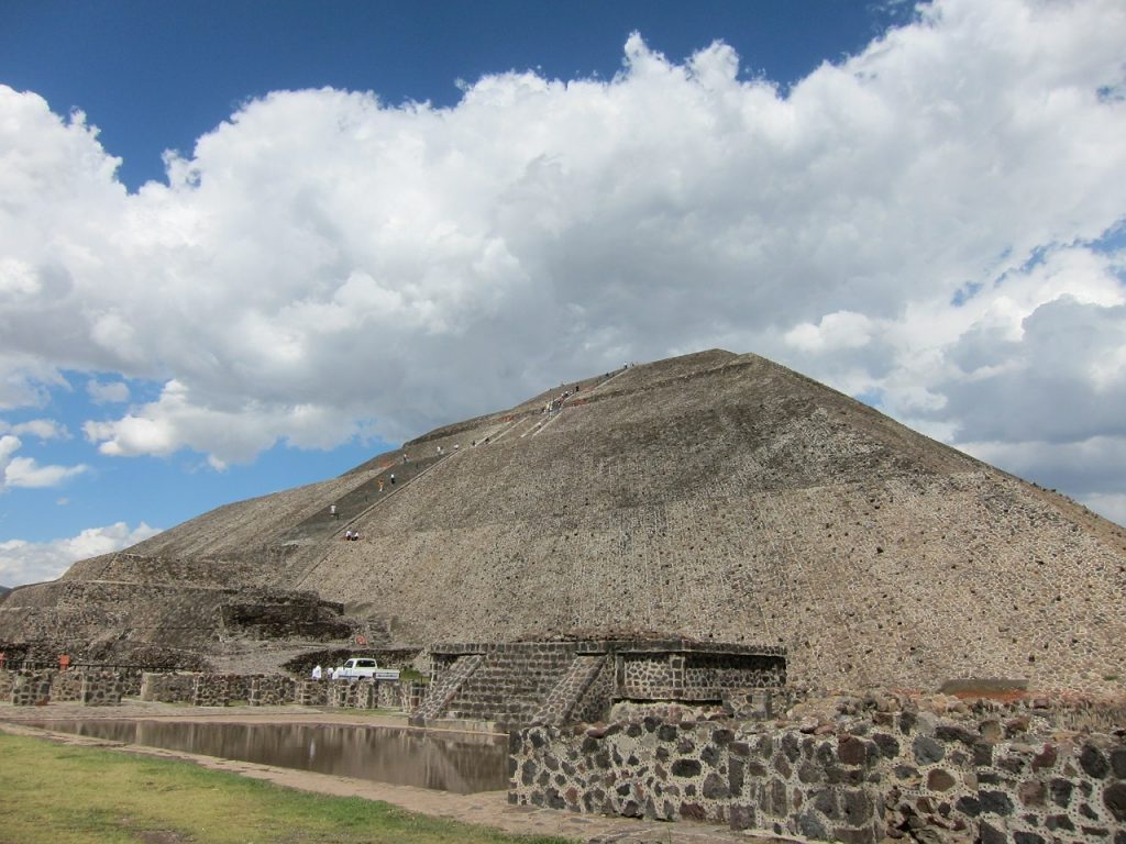The ancient Pyramid of the Sun at Teotihuacan.