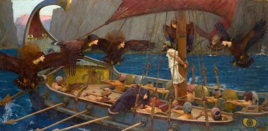 Ulysses (Odysseus) on board Phaeacian ship and the Sirens (Image: J. W. Waterhouse/National Gallery of Victoria)
