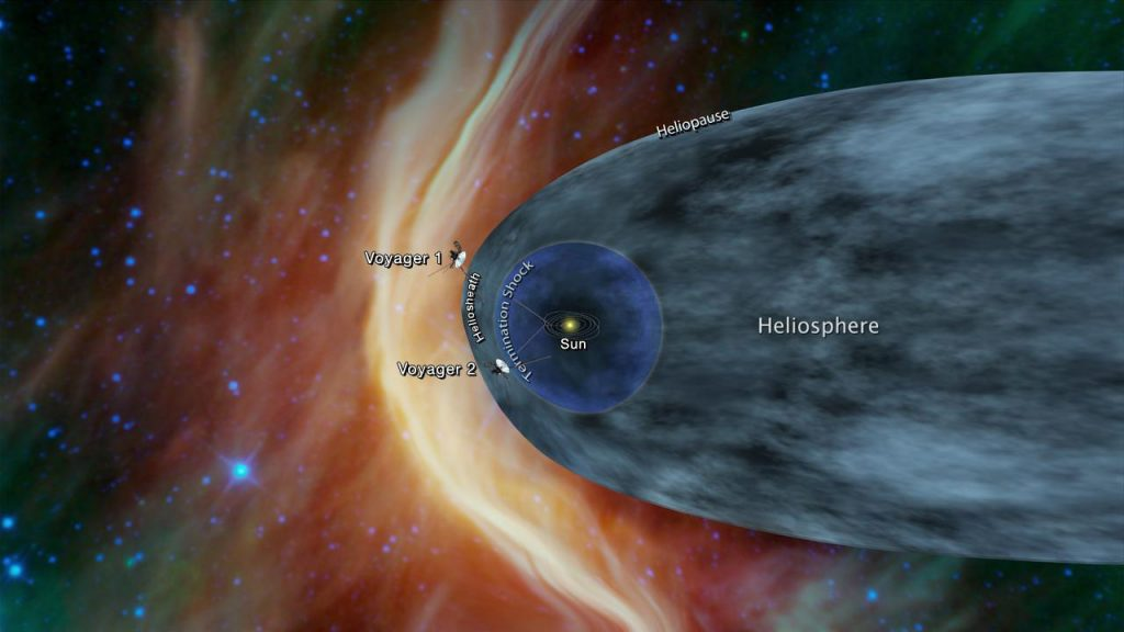 NASA's Voyager 2 probe, currently on a journey toward interstellar space. Image Credit: NASA
