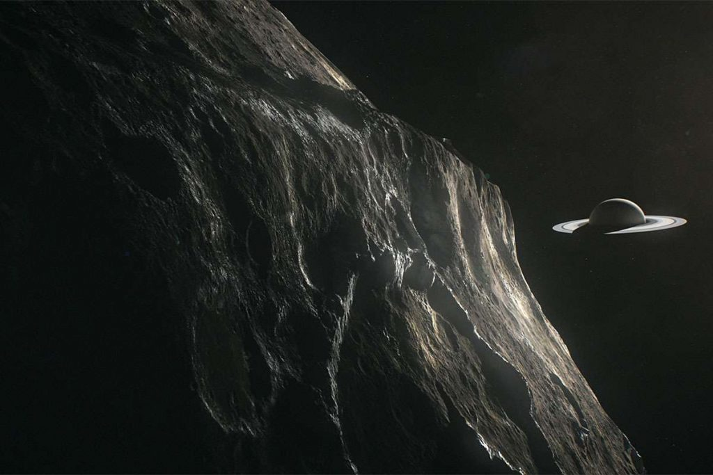 Iapetus, a moon of Saturn, could have its own moon NASA
