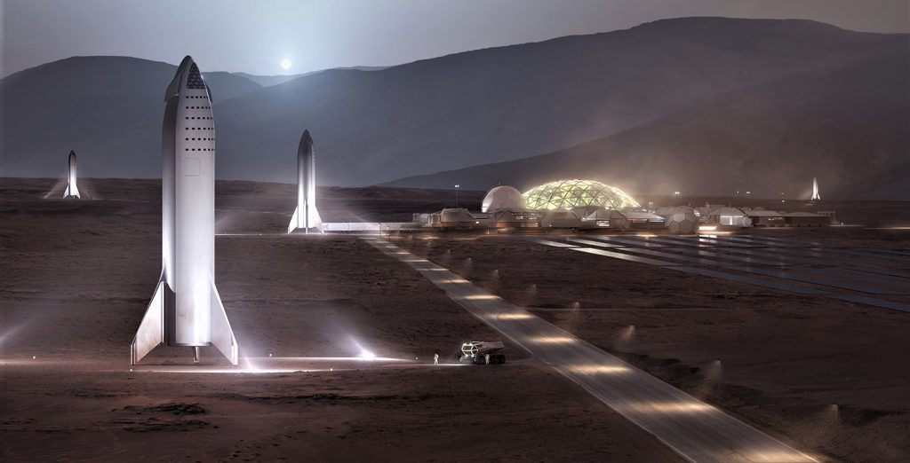 SpaceX is putting great effort in taking mankind to Mars. Image Credit: SpaceX