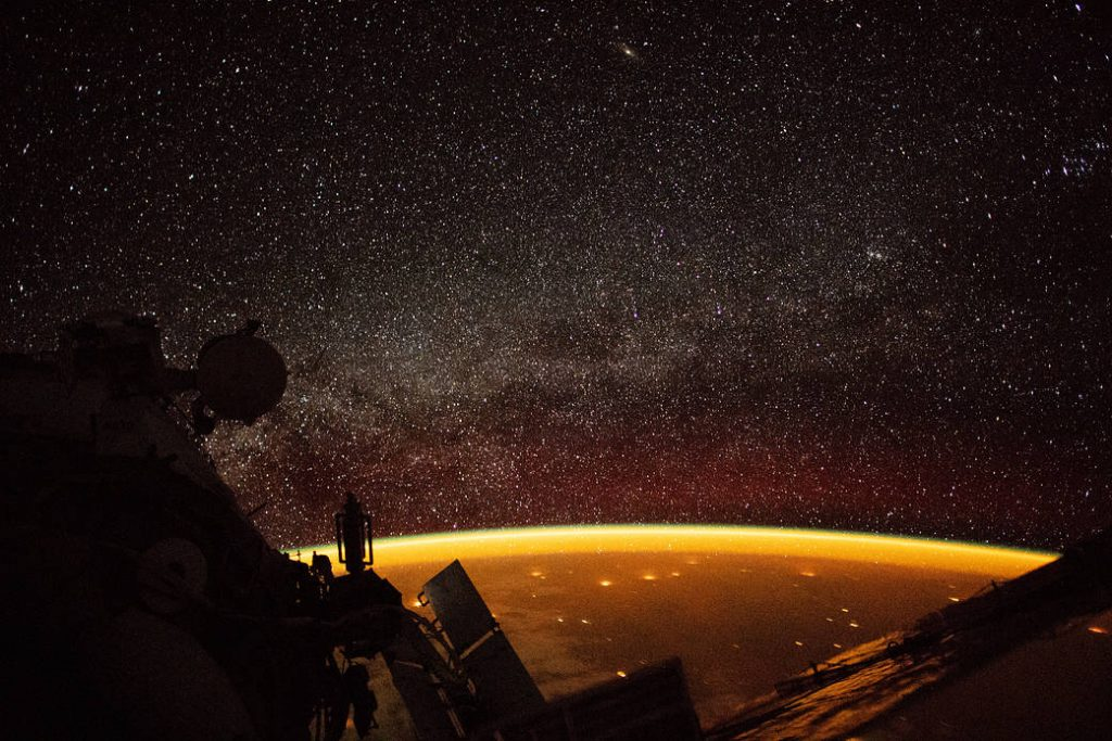 Earth Enveloped in Airglow. Image Credit: Alexander Gerst. NASA