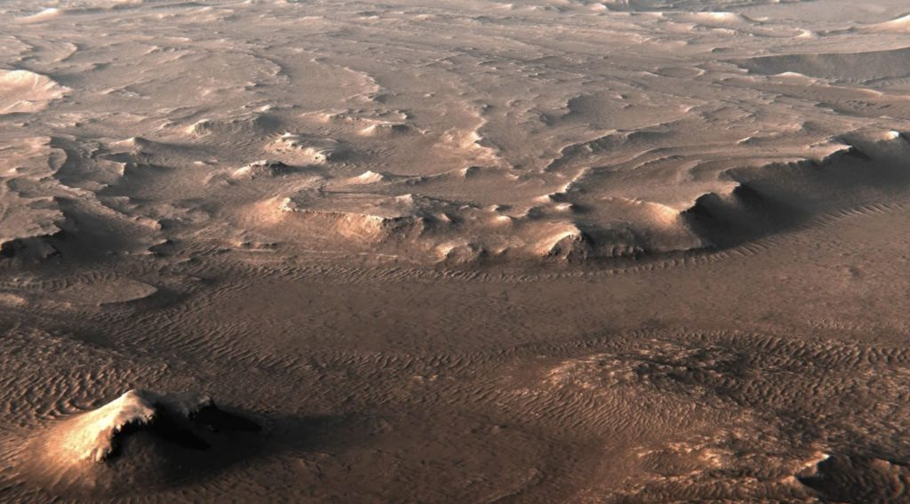 Concept art of Mars' Jezero Crater. Image credit: Kevin Gill
