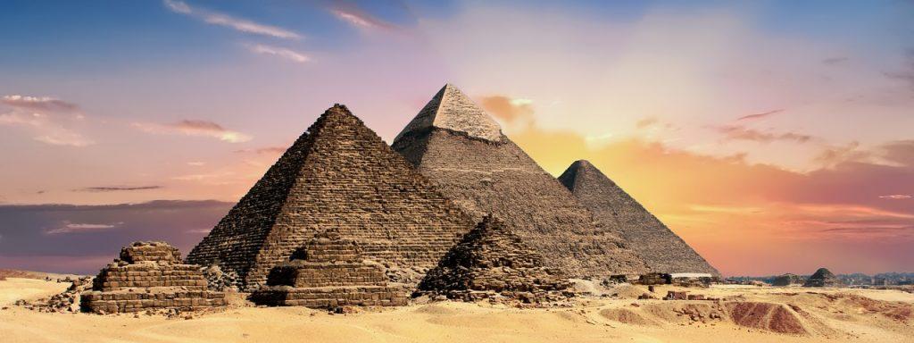The Pyramids at the Giza plateau