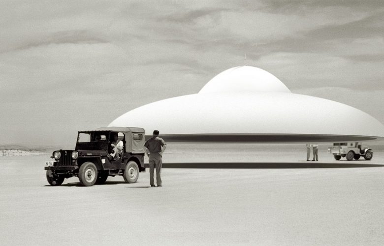 Artists rendering of advanced UFO technology.