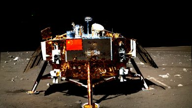 The Chinese Chang'e 3 lander. Image Credit: Chinese Space Agency.