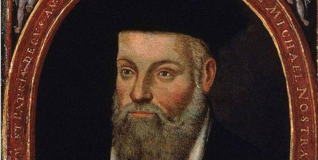The Portrait of Michel de Nostredame (Nostradamus), a French Renaissance Medicine & Astrologer, painted by his son César de Nostredame (1553-1630?). Wikimedia commons.
