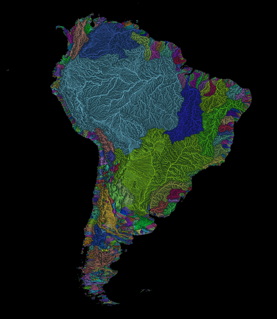 River basins of South America. ROBERT SZUCSGRASSHOPPER GEOGRAPHY