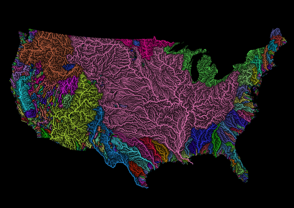 River basins of the United States. ROBERT SZUCS/GRASSHOPPER GEOGRAPHY