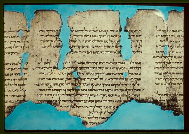 The War Scroll, found in Qumran Cave 1. Image Credit: Wikimedia Commons.