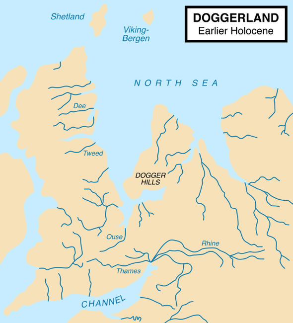 Doggerland, the Atlantis of the North Sea. Image Credit: Wikimedia Commons.