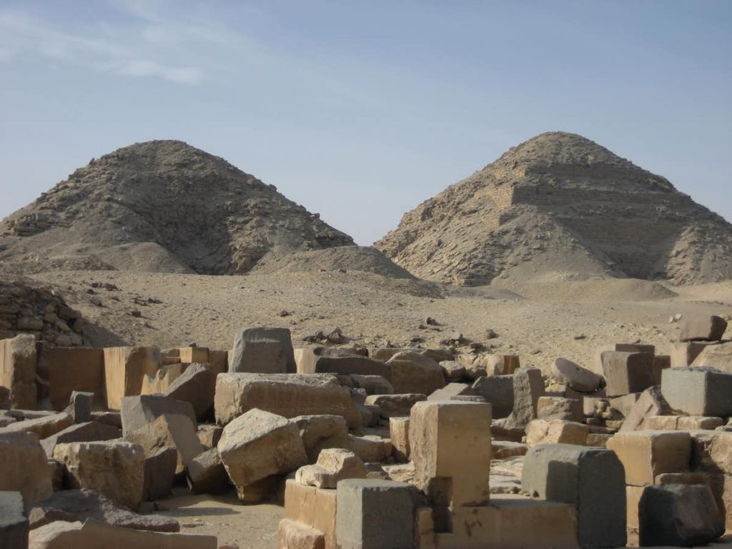 The Abusir pyramids and necropolis remains. Image Credit: Chanel Wheeler / Wikimedia Commons.