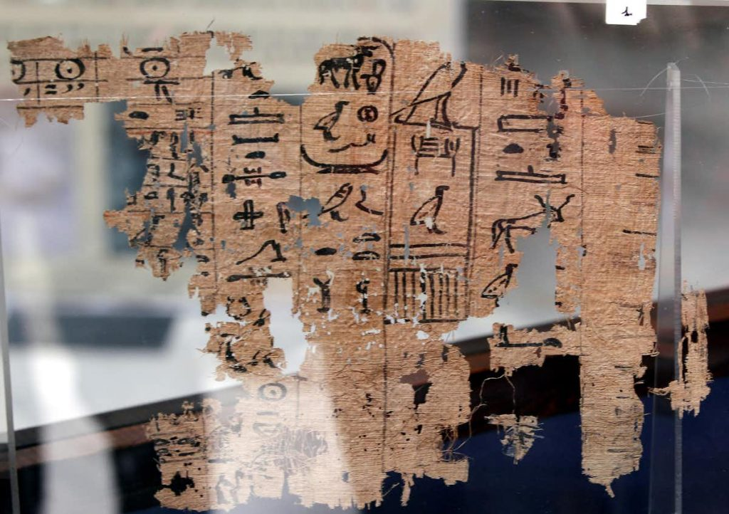 The papyri from Wadi al Jarf. Image Credit: EPA/Khaled Elfiqi.