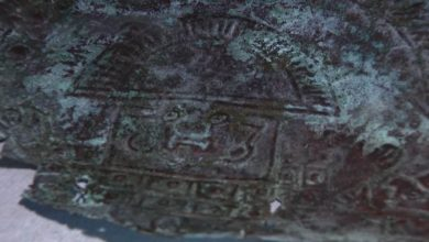 Photo of 10,000-Year-Old Mask Found in Florida Was Made out of Rare 'Extraterrestrial' Metals