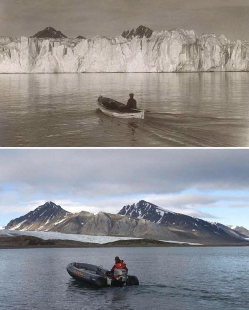 Antarctica then, Antarctica now.