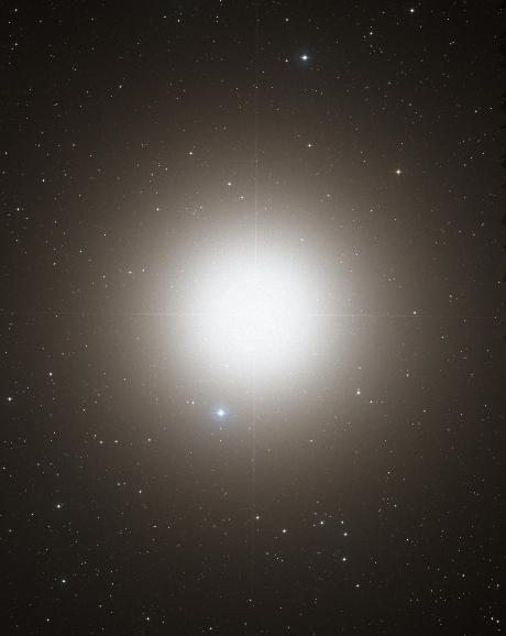 Optical image of Arcturus (DSS2 / MAST / STScI / NASA).