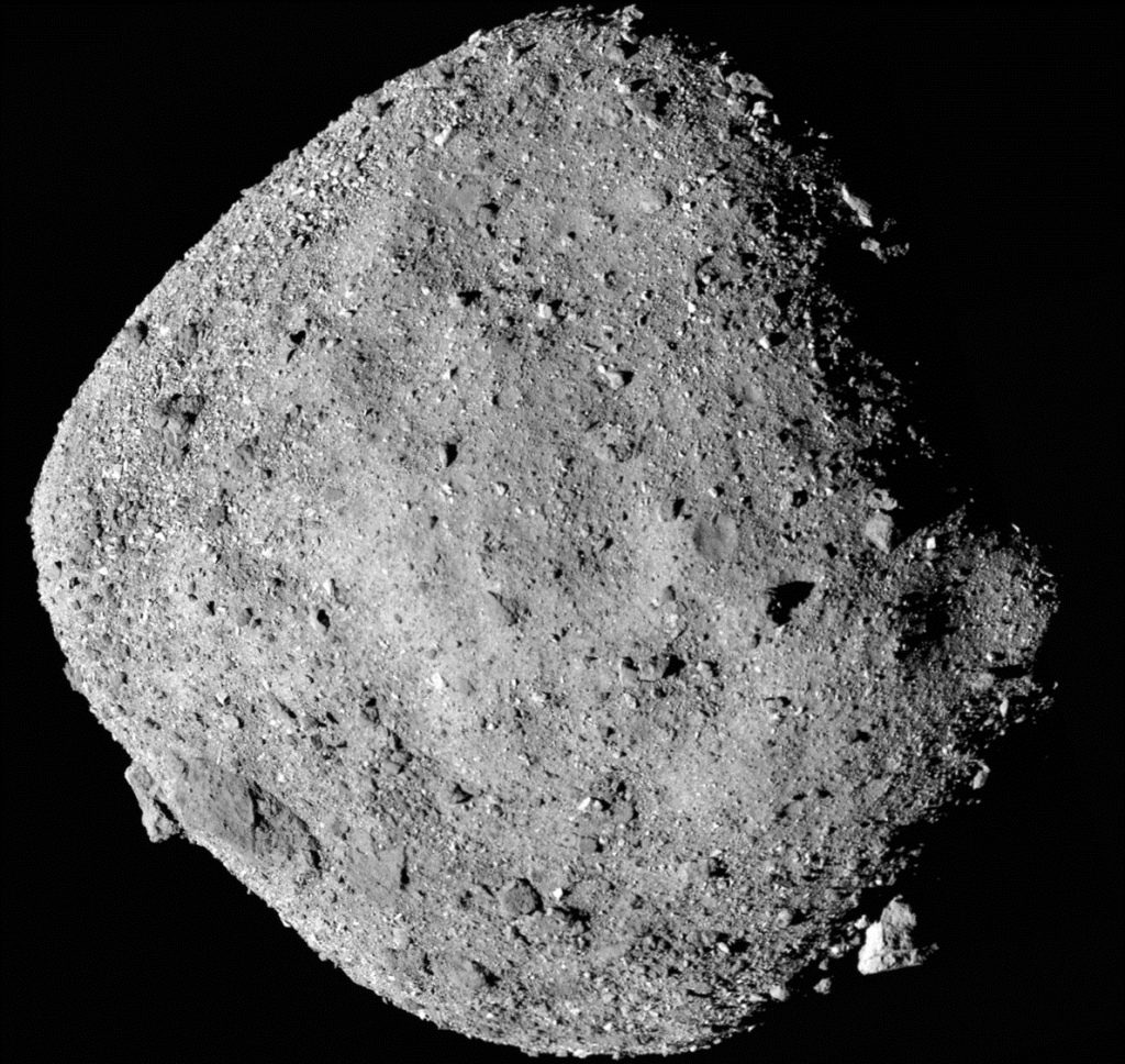This mosaic image of asteroid Bennu is composed of 12 PolyCam images collected on Dec. 2 by the OSIRIS-REx spacecraft from a range of 15 miles (24 kilometers). Image Credit: NASA/Goddard/University of Arizona.