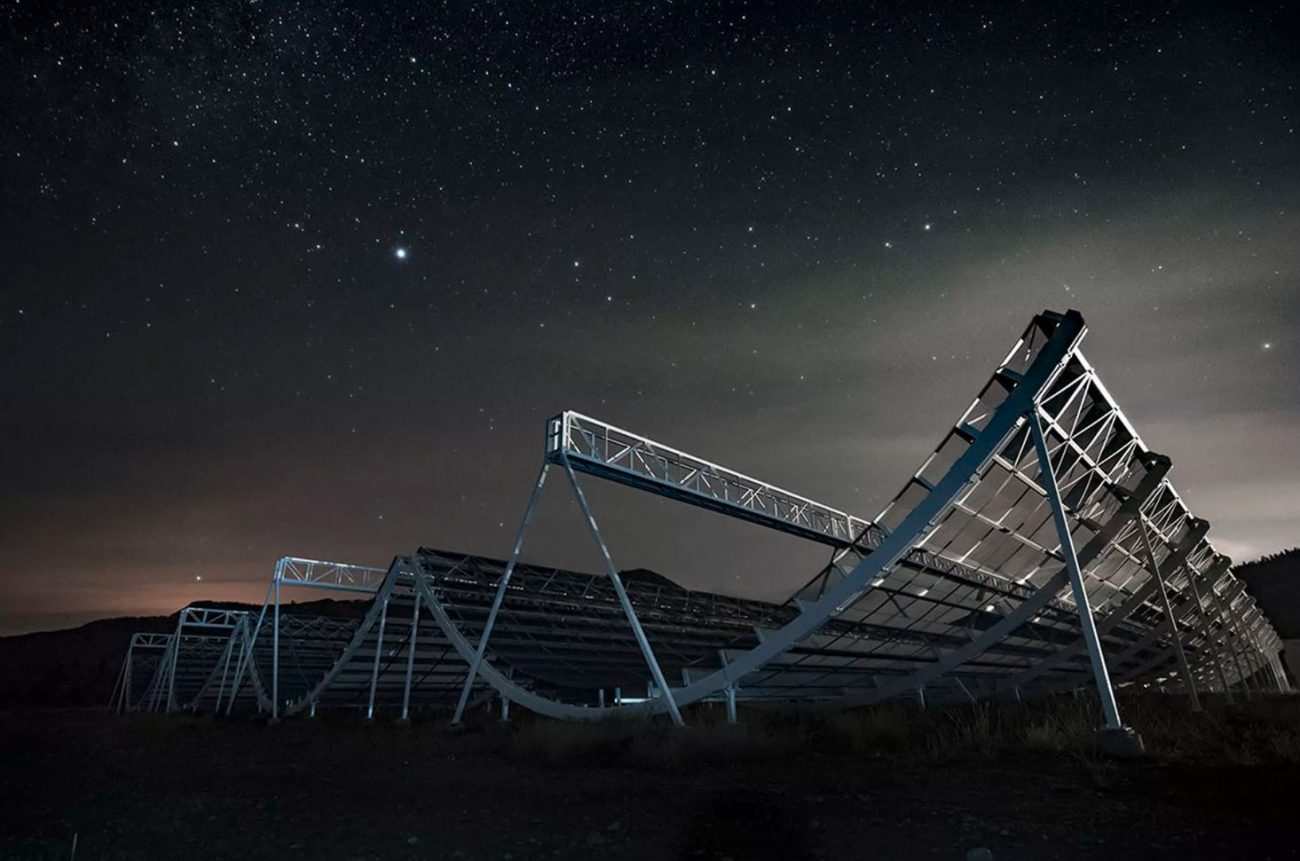 Scientists spotted the new signal using the CHIME telescope. Image Credit: CHIME Collaboration.