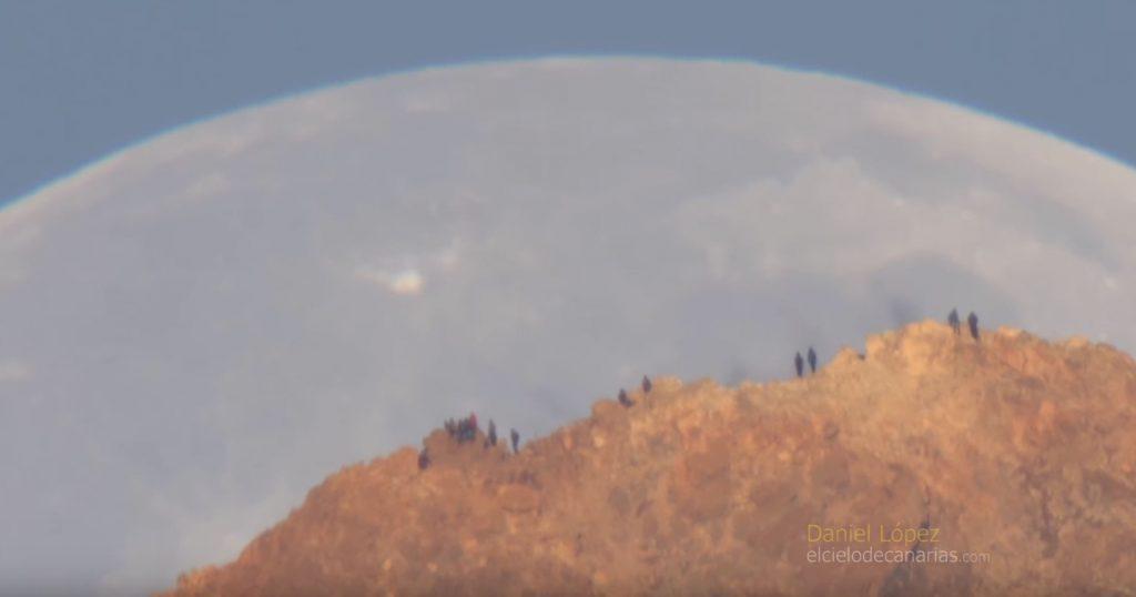 Moon Setting Behind Teide Volcano. Image Credit: Daniel Lopez.