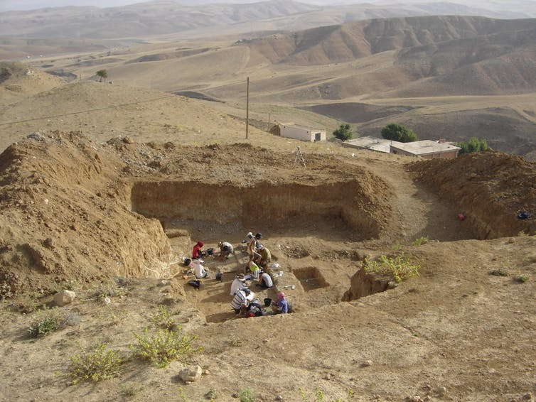 Archaeological excavation at Ain Boucherit, Algeria. Image Credit: Mathieu Duval, Author provided.