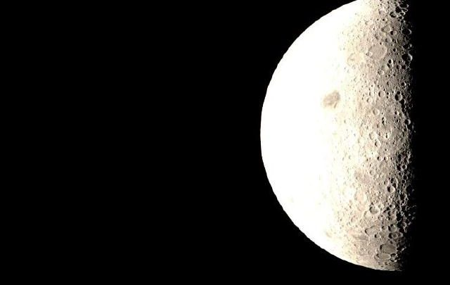 A stunning image of the moon taken by the Queqiao orbital relay. Image Credit: CNSA.